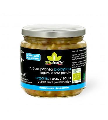 Zuppa di orzo perlato e legumi
