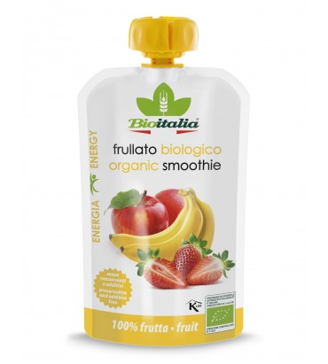 Frullato mela, fragola e banana